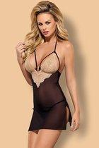 Сорочка Bisquitta chemise, цвет черный, L-XL - Obsessive