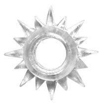 Прозрачное эрекционное кольцо Rings Cristal, цвет прозрачный - Lola Toys