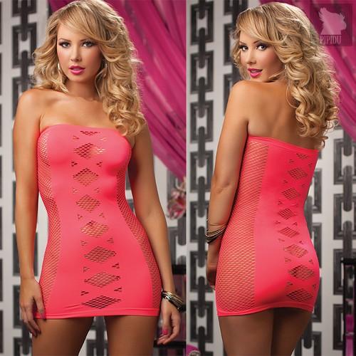 Платье-футляр Vivian, цвет розовый, размер S-L - Seven`til Midnight