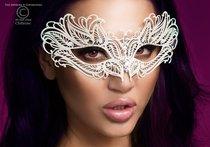 Изысканная белая карнавальная маска Chilirose, цвет белый - Chilirose