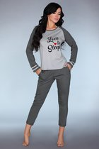 Мягкая пижамка с принтом Linza, цвет серый, размер S-M - Livia Corsetti