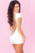 Облегающее мини-платье с разрезами на спинке PARTY IN THE BACK MINI DRESS, цвет белый, M-L - Pink lipstick