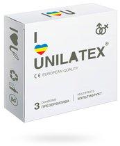 Презервативы Unilatex Multifruits фруктовые, 3 шт. - Unilatex