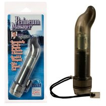 Анальный стимулятор Dr. Joel Kaplan Perineum Massager - 11,5 см, цвет серый - California Exotic Novelties