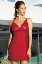 Сорочка Lady in red, цвет красный, L - Mia-Mia