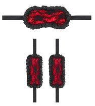 Красно-черный игровой набор Introductory Bondage Kit №7, цвет красный/черный - Shots Media