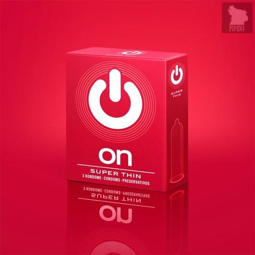 Супертонкие презервативы ON) Super Thin - 3 шт. - VITALIS