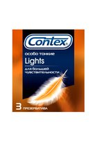 Презервативы с рёбрышками CONTEX Ribbed - 3 шт. - CONTEX