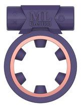 Фиолетовое эрекционное виброкольцо Magic Ring, цвет фиолетовый - ML Creation