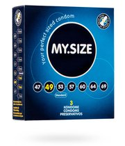 Презервативы MY.SIZE размер 49 - 3 шт. - VITALIS