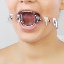 Кляп-кольцо на прозрачных ремешках, цвет прозрачный - Sitabella (СК-Визит)