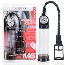 Помпа Master Gauge - Penis Pump со встроенным манометром, цвет прозрачный - California Exotic Novelties