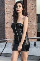 Сексапильное платье Greta со шнуровкой во всю спину, цвет черный, XL - Demoniq