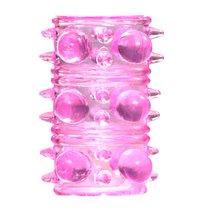 Розовая насадка на пенис Rings Armour, цвет розовый - Lola Toys