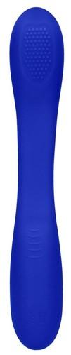 Синий двухсторонний вибратор Flex - 21,5 см., цвет синий - Shots Media
