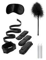 Черный игровой набор БДСМ Bed Bindings Restraint Kit, цвет черный - Shots Media