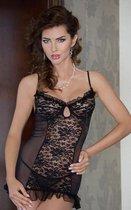 Комбинация Trish с бюстом на косточках + стринги, цвет черный, S - SoftLine Collection (SLC)