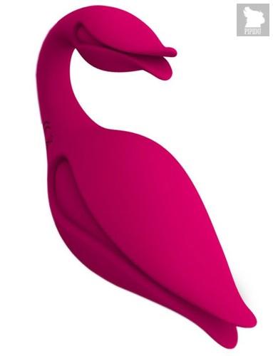 Малиновый вибратор-бутон Swan - 11 см., цвет малиновый - Iyiqu