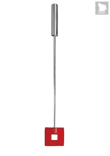 Шлёпалка Leather Square Tiped Crop с наконечником-квадратом - 56 см, цвет красный - Shots Media