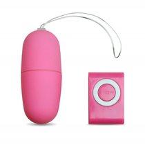 Виброяйцо с пультом управления розовое, цвет розовый - МиФ