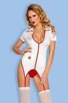 Костюм медсестры Leann, цвет белый/красный, S-L - Candy girl