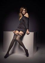 Колготки с имитацией ажурных чулочков Clarisse, цвет черный - Veneziana