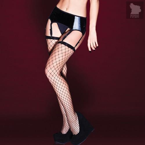 Сексуальный пояс под винил с подвязками для чулок, цвет черный, S - Coquette Internatonal