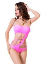 Изысканное боди-сетка Joli Arashi, цвет розовый, L-XL - Erolanta
