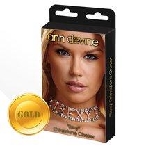 Ошейник из кристаллов SEXY Rhinestone Choker, цвет золотой - Ann Devine