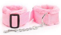 Розовые меховые оковы на регулируемых черных пряжках, цвет розовый - Bioritm