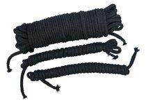 Чёрные хлопковые верёвки для бондажа - ORION