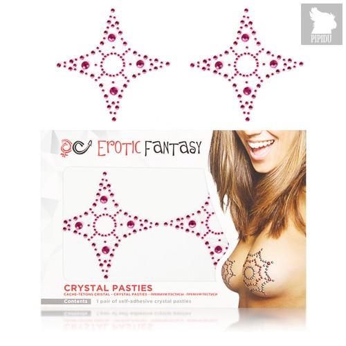 Розовые пэстисы из кристаллов Pink Star - Erotic Fantasy