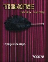 Чёрное страусовое пёрышко, цвет черный - Toyfa