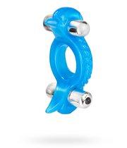Эрекционное кольцо Double Dolphin, цвет голубой - California Exotic Novelties