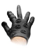 Черная стимулирующая перчатка Stimulation Glove, цвет черный - Shots Media