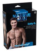 Надувной белокожий секс-мужчина с фаллосом MASSIVE MAN EDDY S. LOVE DOLL, цвет телесный - Nanma (NMC)
