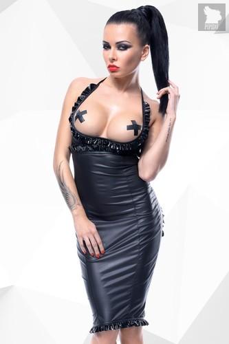 Платье с открытой грудью и вырезом в форме сердца сзади Laureen, цвет черный, L - Demoniq