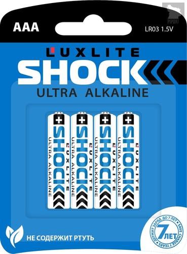 Батарейки Luxlite Shock (BLUE) типа ААА - 4 шт. - LUXLITE