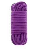 Фиолетовая хлопковая веревка BONDX LOVE ROPE 10M PURPLE - 10 м., цвет фиолетовый - Dream toys