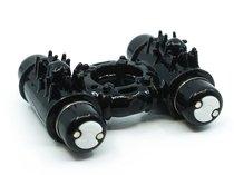 Черное эрекционное виброкольцо DOUBLE ACTION COCKRING, цвет черный - ML Creation