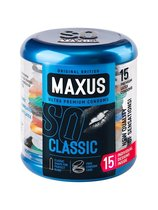 Классические презервативы в металлическом кейсе MAXUS Classic - 15 шт. - maxus