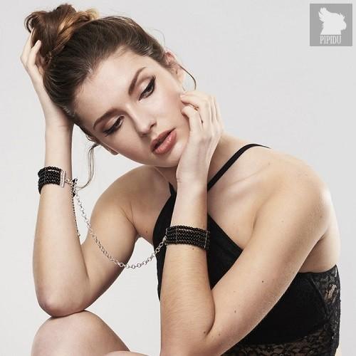 Bijoux Наручники со стразами черные, цвет черный - Bijoux Indiscrets