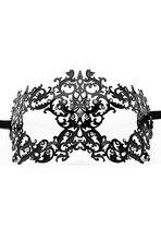 Чёрная металлическая маска Forrest Queen Masquerade, цвет черный - Shots Media
