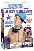 Надувная кукла Just-In Beaver, цвет телесный - Pipedream
