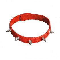 Ошейник №4 СК-Визит узкий с шипами, цвет красный - Sitabella