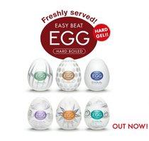 Набор из 6 мастурбаторов Tenga EGG Regular Strength с различным рельефом - Tenga