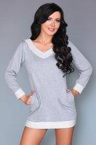 Домашняя сорочка-туника Maristela с кармашками, цвет серый, размер S-M - Livia Corsetti