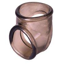 Дымчатое эрекционное кольцо с фиксацией мошонки - Toyfa
