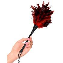 Щекоталка с перьями Fetish Fantasy Series Frisky Feather Duster, цвет красный/черный - Pipedream