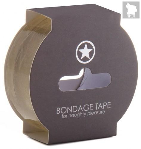 Липкая лента для связывания Non Sticky Bondage Tape - 17,5 м., цвет прозрачный - Shots Media